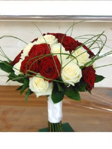 Red and White Rose Bridal